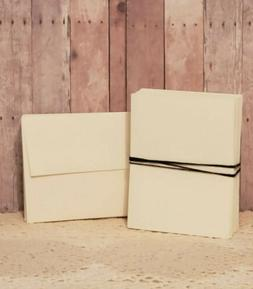 Cream Blank Folded Note Cards with Envelopes - A2  Heavywei