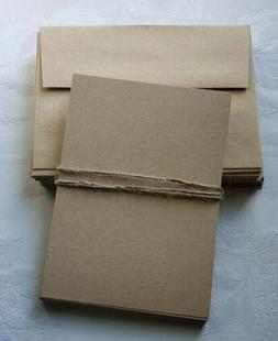 Straw Kraft Flat Blank Note Cards with Envelopes - A7  - 11