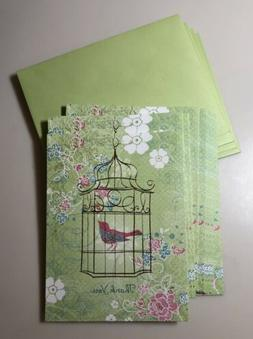 American Greetings Birdcage Floral Thank You Note Card, Boxe