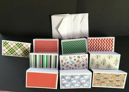 Blank Note Cards 3.5 x 2 inches Handmade Set Of 10 All Holid