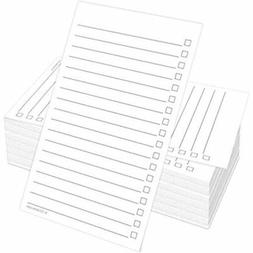 """Checklist Cards  3"""" X 5"""" - Double Sided Index Notecards With"""