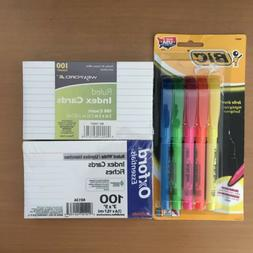 Index Cards Study Notecards Highlighters School Lot