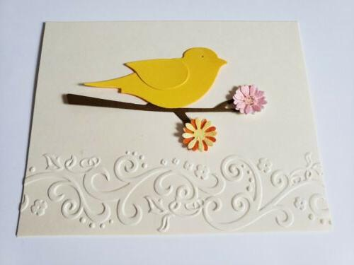 embossed note cards with bird 5 4