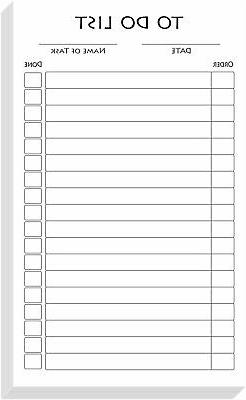 White To-Do List Vertical Index Note Cards, Organize Planner