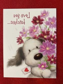 """Leanin' Tree Valentine's Day Note Card """"Love You Bunch"""