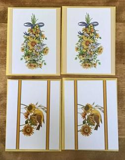 Lot Of 4 MLT STUDIO 18 Fall-Themed Notecards W/Matching Enve