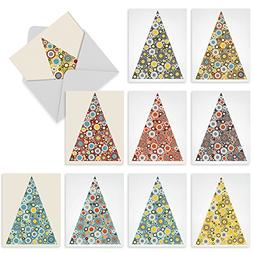 M6014 ORNAMENTALS: 10 Assorted Blank Note Cards w/Matching E