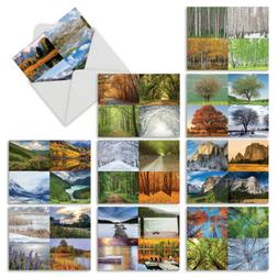 M6489OCB Four Seasons: 10 Assorted Blank All-Occasion Note C