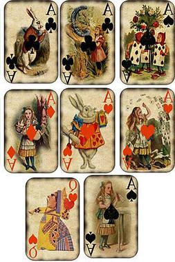 Vintage inspired Alice in Wonderland small note cards set of